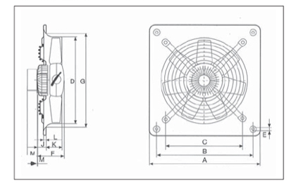 Plate mounted dimensions